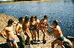 Агиттеатр МАИ «Россия» 1976 г. Дальний Восток. Репетиция на берегу реки Уссури